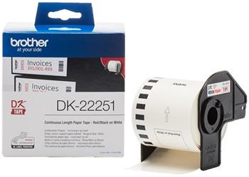 rolka BROTHER DK22251 Continuous Paper Tape (Biela 62mm)