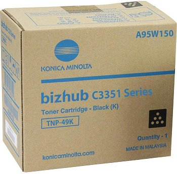toner MINOLTA TNP49K black Bizhub C3351/C3851