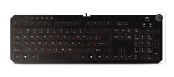 klávesnica GEMBIRD Dynamic Layout USB, čierna, RU
