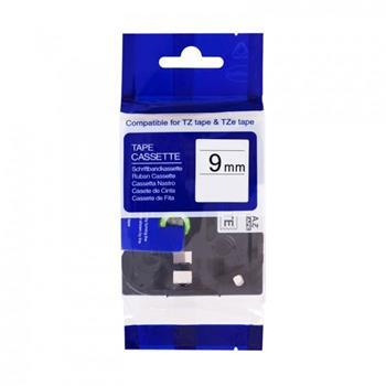 Kompatibilná páska BROTHER TZ221 čierne písmo, biela páska Tape (9mm)