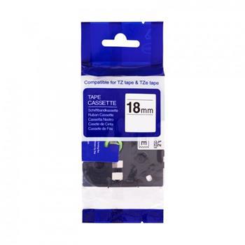 Kompatibilná páska BROTHER TZ241 čierne písmo, biela páska Tape (18mm)
