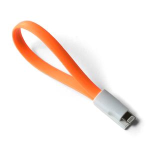 10ks Mini Magnetický USB nabíjací kábel oranžový 225mm BELLAPROX s lightning konektorom