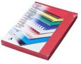 Kartonové dosky Delta A4, 250g, tmavočervené*100ks*hrebeňová väzba