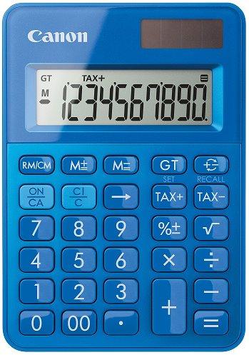 stolová kalkulačka CANON LS-100K modrá, 10 miest, solárne napájanie + batérie