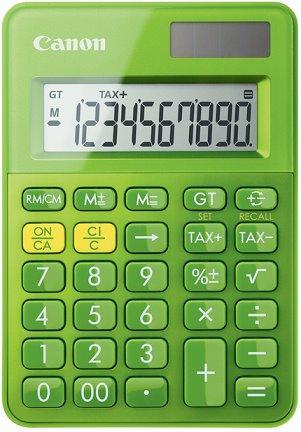 stolová kalkulačka CANON LS-100K zelená, 10 miest, solárne napájanie + batérie