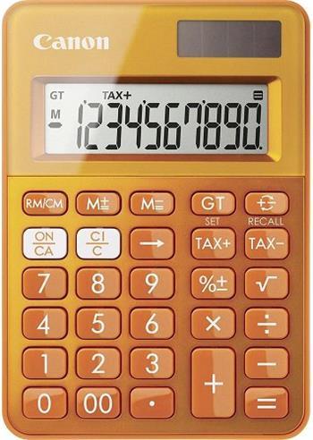 stolová kalkulačka CANON LS-100K oranžová, 10 miest, solárne napájanie + batérie