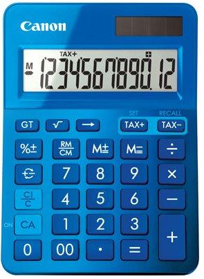 stolová kalkulačka CANON LS-123K modrá, 12 miest, solárne napájanie + batérie