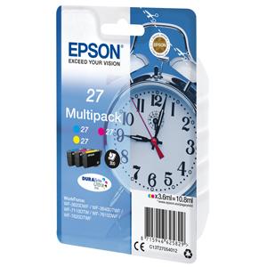 multipack kazeta EPSON WF-3620,3640,7110,7610,7620  T2704 27 (CMY)