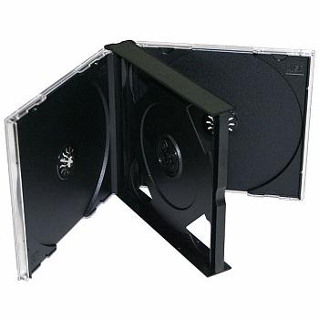 Obal na 6CD, Jewel s čiernym trayom, 22 mm