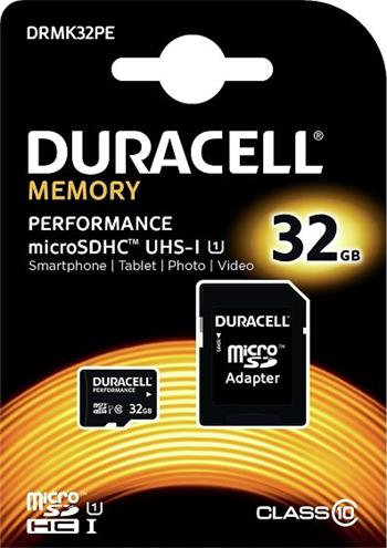 Pamäťová karta Duracell micro SDHC 32GB Class 10 UHS-I (+ adaptér)