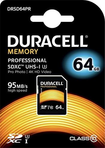 Pamäťová karta Duracell Professional SDXC 64GB Class 10 UHS-3