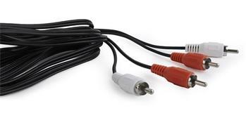 kábel audio prepájací 2 x RCA / 2 x RCA (Cinch) 15m CABLEXPERT