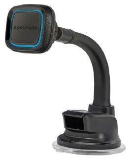 magnetický držiak na smartfóny PROMATE MAGMOUNT-4, prísavka a husí krk, čierno-modrá farba