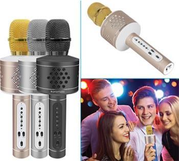 karaoke mikrofón / BT reproduktor PROMATE VOCALMIC 3, Bluetooth 4.2, 6W, strieborná farba