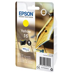 kazeta EPSON WF2520/2530/2540/2750 T162 Yellow 16