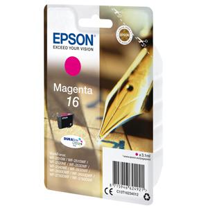 kazeta EPSON WF2520/2530/2540/2750 T162 Magenta 16