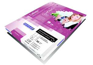 fólia RAYFILM lesklá biela samolepiaca polyesterová laser 100ks/A4