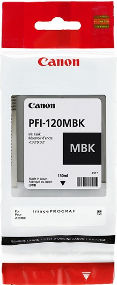 kazeta CANON PFI-120MBK matte black TM-200/205/300/305 (130ml)