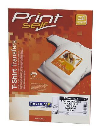 papier RAYFILM nažehľovací inkjet (svetlý textil) 2ks/A4 + Tričko XL Biele