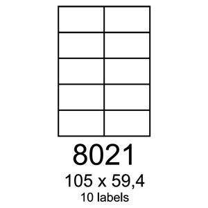 etikety RAYFILM 105x59,4 univerzálne biele R01008021F (1.000 list./A4)