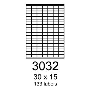 etikety RAYFILM 30x15 univerzálne žlté R01213032A (100 list./A4)