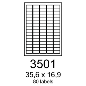 etikety RAYFILM 35,6x16,9 univerzálne biele eco R0ECO3501F (1.000 list./A4)