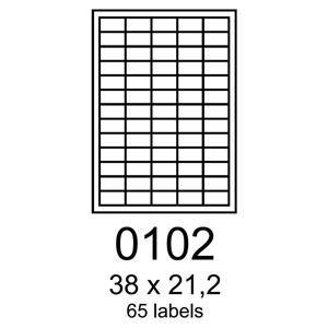 etikety RAYFILM 38x21,2 �erven� flourescentn� laser R01320102A (100 list./A4)