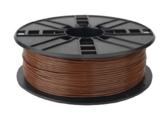 PLA plastic filament pre 3D tlač, priemer 1,75mm, farba hnedá, Gembird