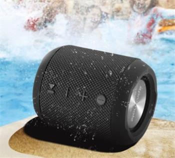 BT reproduktor PROMATE BOMBA, BT 4.2, 7W HD stereo sound, IPX6, FM rádio, čierna farba