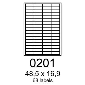 etikety RAYFILM 48,5x16,9 zelen� flourescentn� laser R01300201A (100 list./A4)
