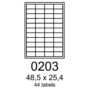 etikety RAYFILM 48,5x25,4 oran�ov� flourescentn� laser R01330203A