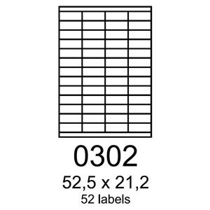 etikety RAYFILM 52,5x21,2 biele s odnímateľným lepidlom R01020302A (100 list./A4)
