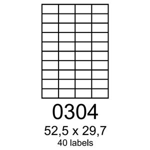 etikety RAYFILM 52,5x29,7 univerzálne biele R01000304A (100 list./A4)