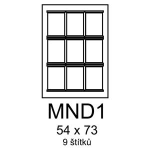 etikety RAYFILM 54x73 MND1 univerzálne biele R0100MND1F