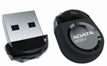 USB kľúč ADATA DashDrive Series UD310 64GB USB 2.0  design drahokamu, čierny