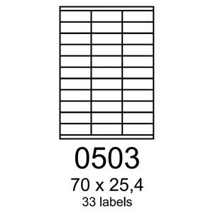 etikety RAYFILM 70x25,4 univerzálne žlté R01210503A (100 list./A4)