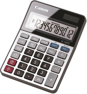 stolová kalkulačka CANON LS-122TS, 12 miest, solárne napájanie + batérie