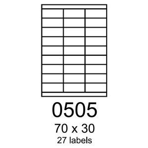 etikety RAYFILM 70x30 fotomatné biele inkjet 90g R01050505A (100 list./A4)