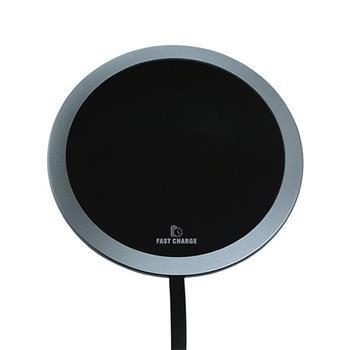 bezdrôtová nabíjacia podložka All New, ultra tenká, 5/9V 10W, čierna/strieborná farba
