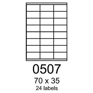etikety RAYFILM 70x35 univerzálne žlté R01210507A (100 list./A4)