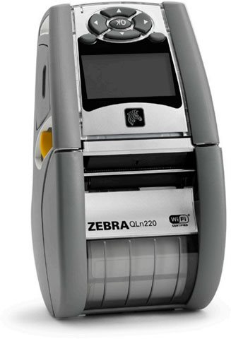 DT Printer QLn220 Healthcare; CPCL, ZPL, XML, Bluetooth 3.0, Mfi + Ethernet, 128M RAM 256M Flash, DT/Linered Platen, 3/4