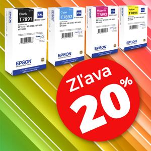 2 sady kaziet EPSON T789 CMYK XXL s 20% zľavou