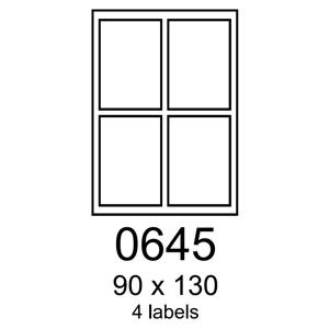 etikety RAYFILM 90x130 univerz�lne biele R01000645F