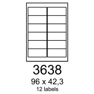 etikety RAYFILM 96x42,3 univerzálne žlté R01213638A (100 list./A4)