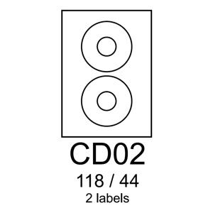 etikety RAYFILM CD02 118/44 univerzálne biele R0100CD02C (20 list./A4)