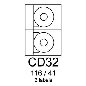 etikety RAYFILM CD32 116/41 fotolesklé biele inkjet 120g R0115CD32G