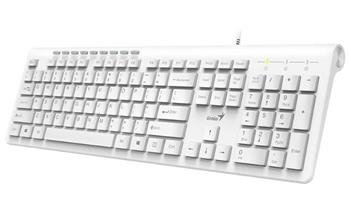 Klávesnica Genius Slimstar 230 káblová, USB, biela, CZ+SK layout