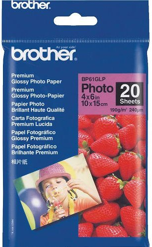 papier BROTHER BP61 Premium foto lesklý 10x15/20ks