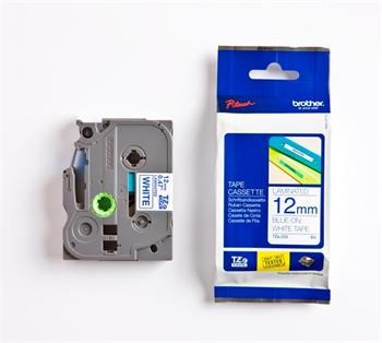 páska BROTHER TZ233 modré písmo, biela páska Tape (12mm)