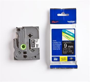 páska BROTHER TZ325 biele písmo, čierna páska Tape (9mm)